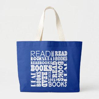 Sacola da leitura do bibliotecário do grupo do sacola tote jumbo
