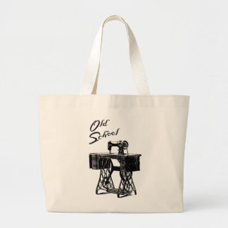 Sacola da máquina de costura da velha escola sacola tote jumbo