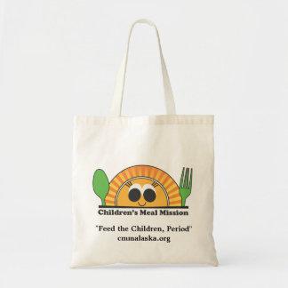 Sacola da missão da refeição das crianças bolsa para compras