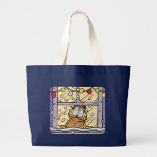 Sacola da Noite de Natal de Garfield Bolsa Tote Grande