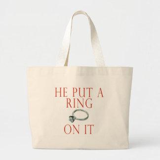 Sacola da noiva do noivado sacola tote jumbo