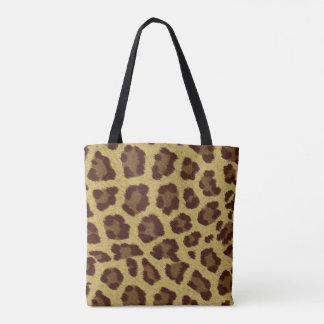 Sacola da pele do leopardo bolsa tote