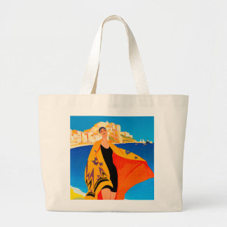 "Sacola da praia: ""Riviera francês "" Bolsa De Lona"
