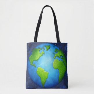 Sacola da terra do planeta bolsas tote