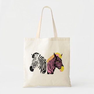 Sacola das canvas da zebra sacola tote budget