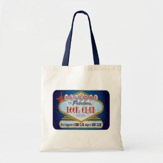 Sacola das canvas do clube de leitura bolsas para compras