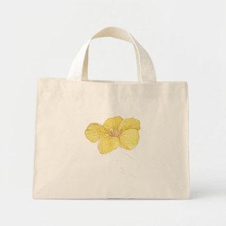 Sacola das canvas do desenho de lápis da flor do M Sacola Tote Mini
