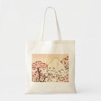 Sacola das flores de cerejeira de Hokusai Monte Fu Sacola Tote Budget