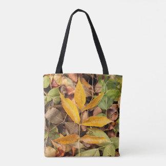Sacola das folhas de outono bolsas tote