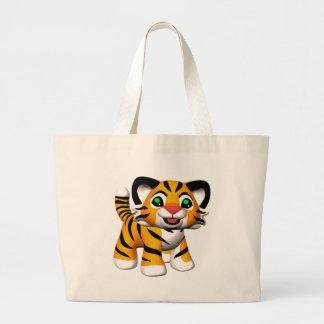 sacola de Cub de tigre dos desenhos animados 3D Sacola Tote Jumbo