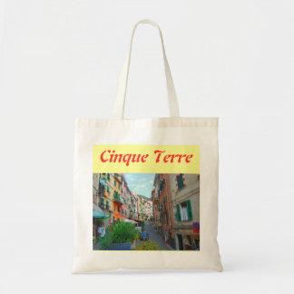 Sacola de pano de Cinque Terre Italia Sacola Tote Budget