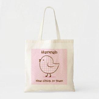 Sacola do bebê do pintinho do guingão bolsa para compra