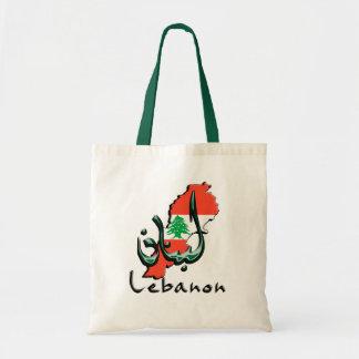 Sacola do bilíngue de Líbano 3D Sacola Tote Budget