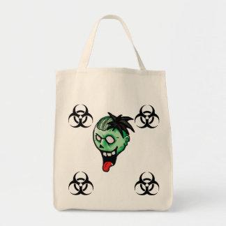 Sacola do Biohazard do zombi Sacola Tote De Mercado