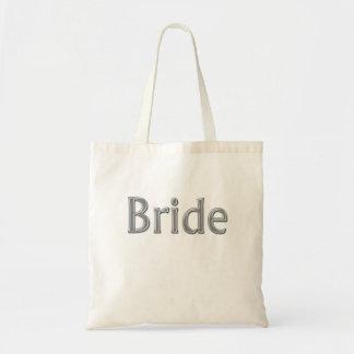 Sacola do casamento da noiva sacola tote budget
