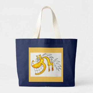Sacola do cavalo do palomino dos desenhos animados sacola tote jumbo
