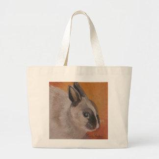 Sacola do coelhinho da Páscoa por Marie Theron Bolsa Tote Grande