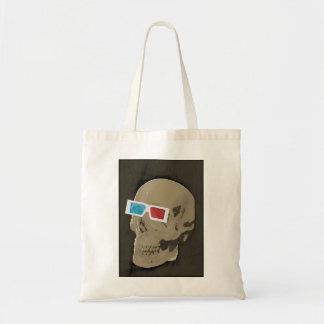 sacola do crânio das especs 3D Bolsas De Lona
