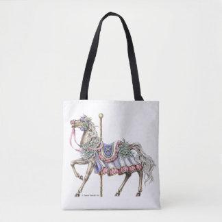 Sacola do desenho da caneta e da tinta do cavalo bolsas tote