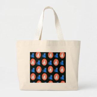 Sacola do design dos gatos bolsa para compra