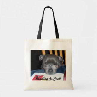 Sacola do filhote de cachorro da leitura sacola tote budget