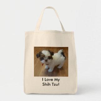 Sacola do filhote de cachorro de Shih Tzu Bolsa Para Compras
