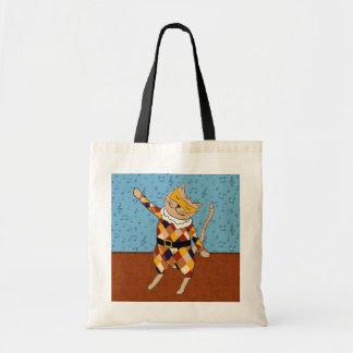 Sacola do gatinho do Harlequin da dança Bolsa Para Compras