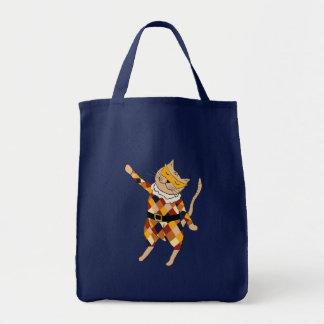 Sacola do gatinho do Harlequin da dança Bolsas Para Compras