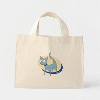 Sacola do gato azul bolsa para compras