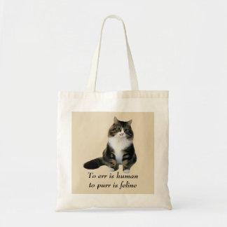Sacola do gato bolsa para compras
