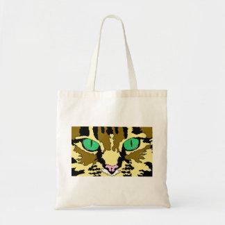 Sacola do gato de gato malhado sacola tote budget
