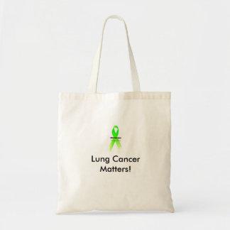 Sacola do LC, matérias do câncer pulmonar! Sacola Tote Budget