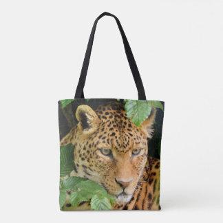 Sacola do leopardo bolsas tote