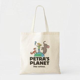 Sacola do logotipo do planeta de PETRA Sacola Tote Budget