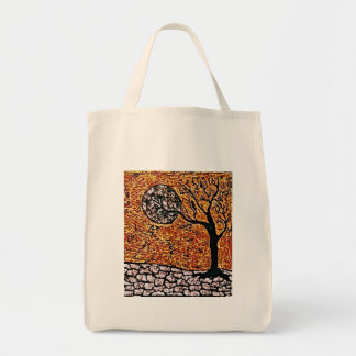 Sacola do mantimento com árvore bolsa tote