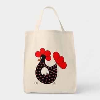 Sacola do mantimento da galinha dos desenhos anima bolsa para compra