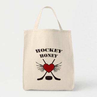 Sacola do mel do hóquei sacola tote de mercado