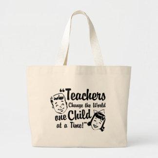 Sacola do mundo da mudança dos professores bolsas