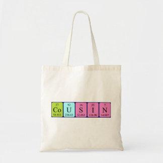 Sacola do nome da mesa periódica do primo bolsa para compras
