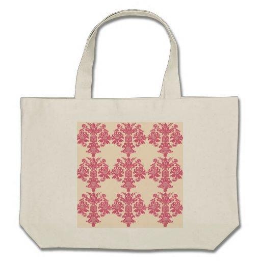 Sacola do nouveau da arte do rosa da madressilva d bolsa de lona