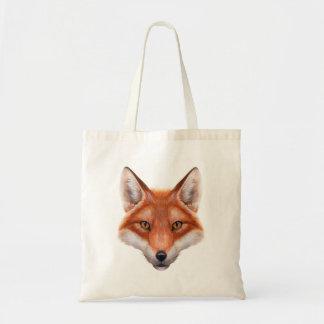 Sacola do orçamento da cara do Fox vermelho Sacola Tote Budget