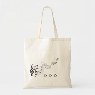 Sacola do orçamento da nota musical bolsas para compras