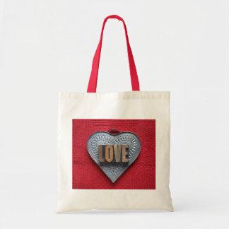 sacola do orçamento do amor do coração da lata bolsa