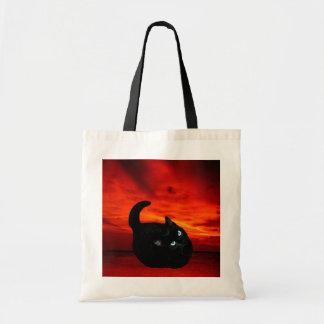 Sacola do orçamento do gato sacola tote budget