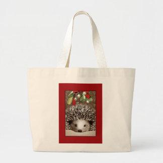 Sacola do ouriço do Natal Bolsa