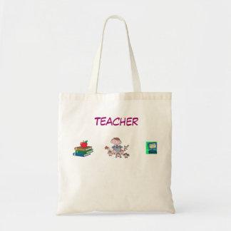 Sacola do professor bolsa para compras