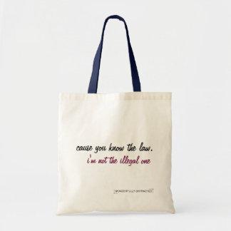 Sacola do slogan contra sacos de plástico bolsa