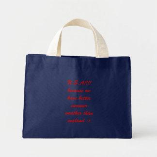 sacola do slogan dos EUA Bolsa Tote Mini