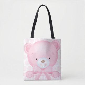 Sacola do urso do bebé bolsas tote