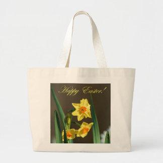 Sacola dos Daffodils do felz pascoa Bolsa De Lona